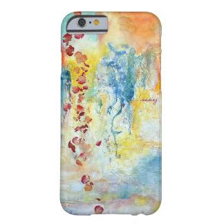 Caja abstracta del teléfono de los rosas funda de iPhone 6 barely there