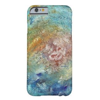 Caja abstracta del teléfono del océano funda de iPhone 6 barely there