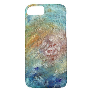 Caja abstracta del teléfono del océano funda iPhone 7