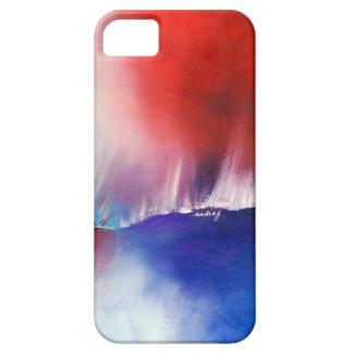 Caja abstracta del teléfono del rojo azul iPhone 5 cobertura
