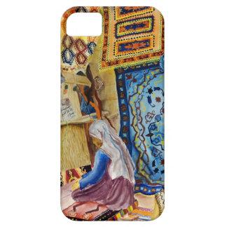 Caja abstracta del teléfono del tejedor de la mant iPhone 5 coberturas