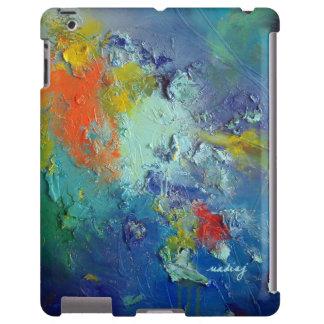 Caja abstracta del verde azul