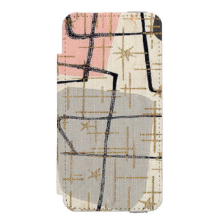 Caja abstracta moderna de la cartera del iPhone 6 Funda Cartera Para iPhone 5 Watson