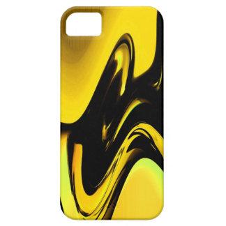 Caja abstracta negra amarilla del iPhone 5 del iPhone 5 Carcasa