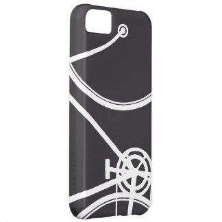 Caja abstracta negra del iPhone 5 de la bicicleta Funda Para iPhone 5C