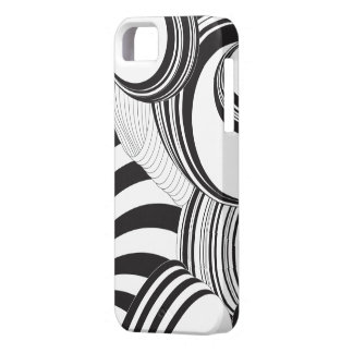 Caja abstracta negra del teléfono iPhone 5 Case-Mate coberturas