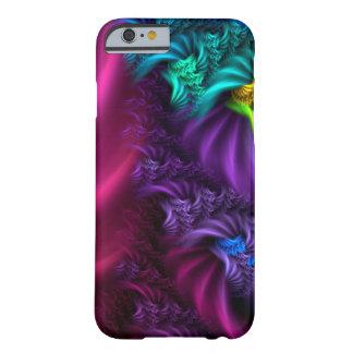 Caja abstracta púrpura del arte del fractal funda barely there iPhone 6