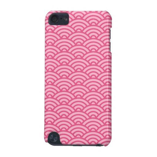 Caja abstracta rosada de iPod del modelo de onda d