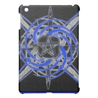 Caja abstracta texturizada azul del iPad del Penta