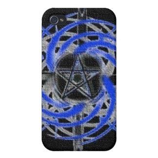 Caja abstracta texturizada azul del iPhone 4 del P iPhone 4/4S Carcasa