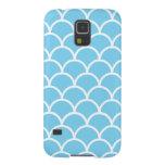 Caja acuática japonesa azul y blanca del teléfono carcasas de galaxy s5