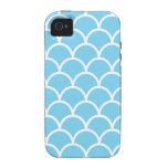 Caja acuática japonesa azul y blanca del teléfono  Case-Mate iPhone 4 carcasas