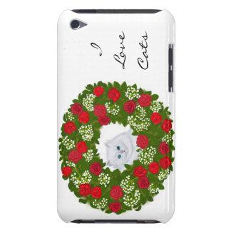 Caja adaptable de la mota del gatito de la guirnal iPod Case-Mate carcasas