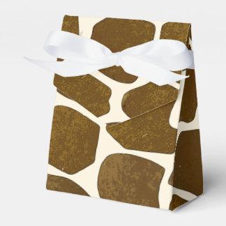Caja adaptable del favor del estampado de girafa caja para regalo de boda