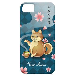 Caja adaptable del té de la tetera de Chibi Shiba Funda Para iPhone SE/5/5s