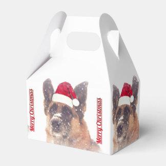 Caja adorable del favor del pastor alemán del día caja para regalos