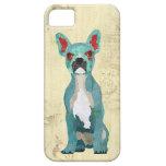 Caja adornada azul del iPhone del perro de Bull de iPhone 5 Cárcasa