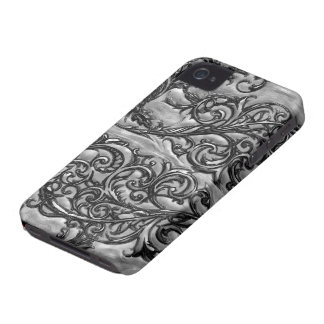 Caja afiligranada negra del compañero del caso del Case-Mate iPhone 4 protectores