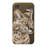 Caja africana adulta de IPod del Serval iPhone 4 Carcasas