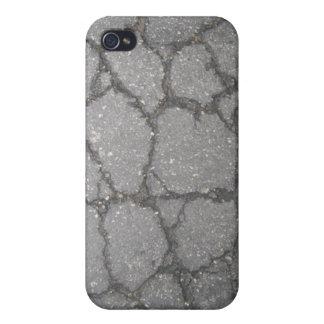 Caja agrietada de la mota del asfalto iPhone4 iPhone 4 Carcasa