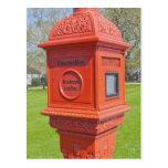 Caja alarma de incendio tarjeta postal