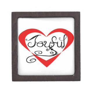 Caja alegre del corazón caja de joyas de calidad