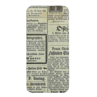 Caja alemana del periódico del vintage bolsillo para iPhone