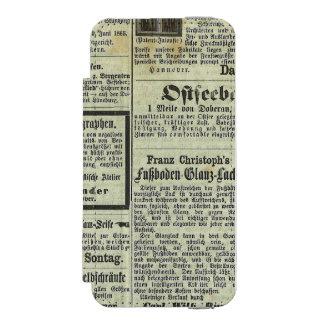 Caja alemana del periódico del vintage funda billetera para iPhone 5 watson