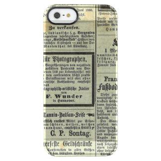 Caja alemana del periódico del vintage funda clearly™ deflector para iPhone 5 de uncommon