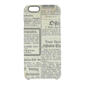 Caja alemana del periódico del vintage funda clearly™ deflector para iPhone 6 de uncommon