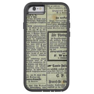 Caja alemana del periódico del vintage funda de iPhone 6 tough xtreme