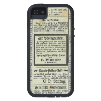 Caja alemana del periódico del vintage funda para iPhone SE/5/5s