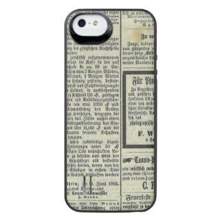 Caja alemana del periódico del vintage funda power gallery™ para iPhone 5 de uncommon