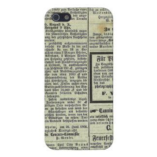 Caja alemana del periódico del vintage iPhone 5 carcasas