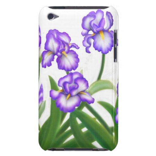 Caja alemana púrpura de la mota del iris barbudo Case-Mate iPod touch carcasas