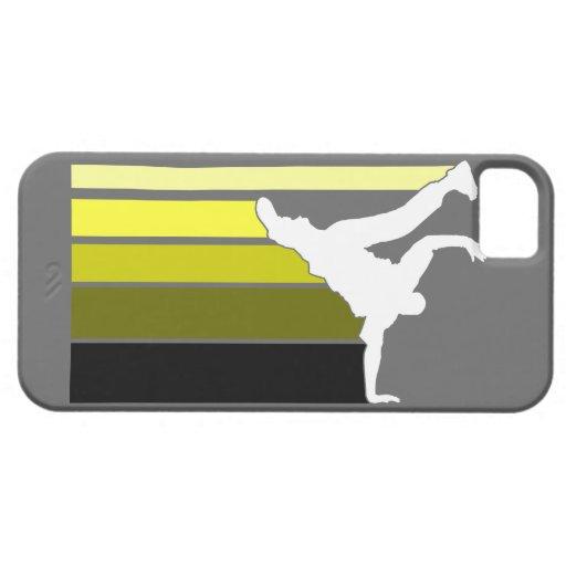 Caja amarilla/blanca de la pendiente de BBOY del i iPhone 5 Cobertura
