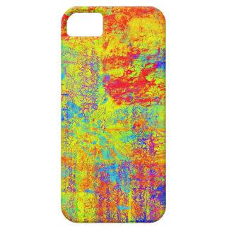 Caja amarilla brillante del iPhone 5 del arte abst iPhone 5 Case-Mate Fundas