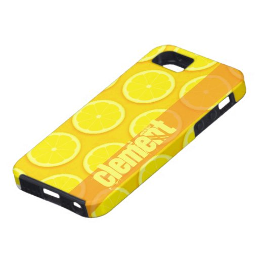 Caja amarilla brillante del nombre iphone5 de la iPhone 5 funda