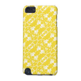 Caja amarilla caliente de la mota del tacto de funda para iPod touch 5G