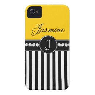Caja amarilla conocida del iPhone 4 de las rayas n iPhone 4 Cárcasa