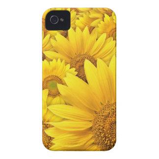 Caja amarilla de Iphone 4S del girasol Case-Mate iPhone 4 Carcasas