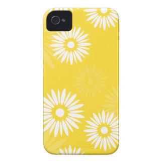 Caja amarilla de las flores 4/4S del verano Carcasa Para iPhone 4 De Case-Mate