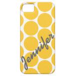 Caja amarilla de moda del iPhone 5 del modelo de l iPhone 5 Case-Mate Funda