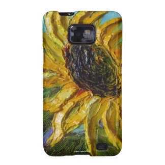 Caja amarilla de Samsung Galexy del girasol Samsung Galaxy S2 Fundas