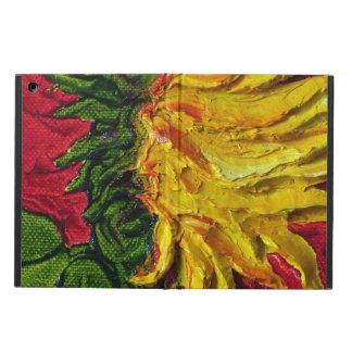Caja amarilla del aire del iPad del girasol