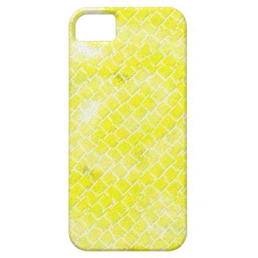 Caja amarilla del efecto Iphone5 de la puerta iPhone 5 Protectores