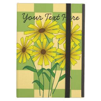 Caja amarilla del iPad de cinco flores con Kicksta