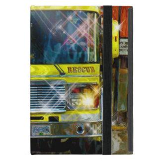 Caja amarilla del iPad del camión del bombero del iPad Mini Cárcasas