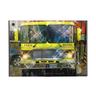 Caja amarilla del iPad del camión del bombero del  iPad Mini Fundas