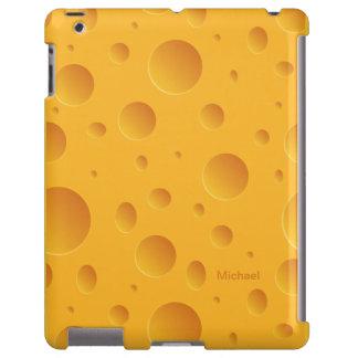 Caja amarilla del iPad del queso de los agujeros Funda Para iPad